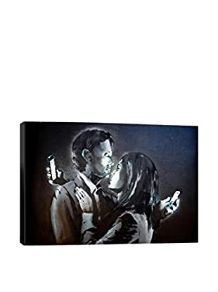Banksy Mobile Lovers #3 Gallery Wrapped Canvas Print