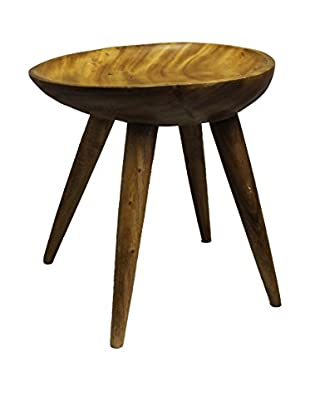 Asian Loft Teak Wood Helm Stool
