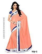 Winza best saree Ladies party wear georgette sari 4 top modern women girls with fancy blouse
