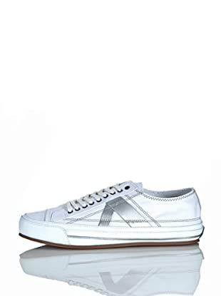 PF Flyers Sneakers Number 5 (Bianco/Argento)
