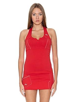 Naffta Camiseta Tenis / Padel (Rojo / Blanco)