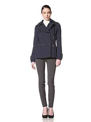 Andrew Marc Women's Cadet Double Breasted Jacket (Navy)