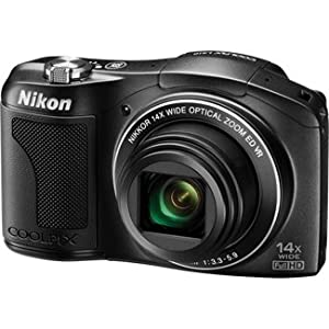 Nikon Coolpix L610 16MP Point-and-Shoot Digital Camera (Black) with 4GB Card, Camera Pouch, HDMI Cable