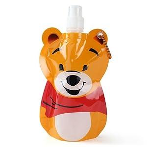 Mom Italy Kiddy Foldable Water Bottle, Bear Design