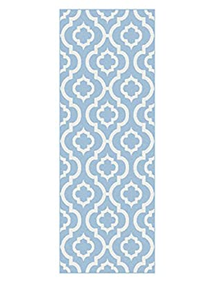 Universal Rugs Metro Contemporary Runner, Blue, 3' x 8'