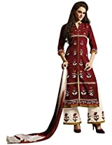 Kessi Fabrics Women's Cotton Unstitched Salwar Suit (Brown)