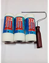 DON 40 density 3 unit p.u.foam paint rollers in white or grey colour with one nut type handle.