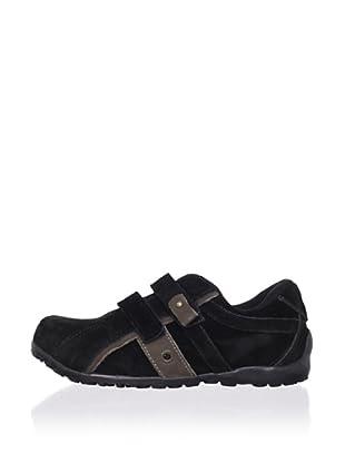 Ortopasso Kid's Hook-and-Loop Sneaker (Black)