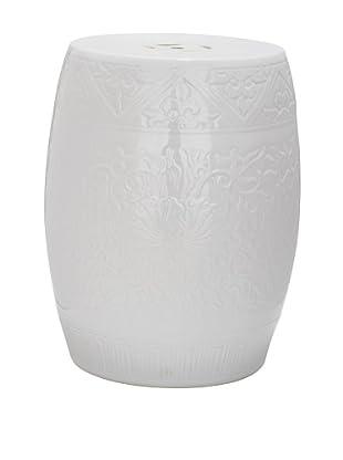 Safavieh Lotus Garden Stool, White