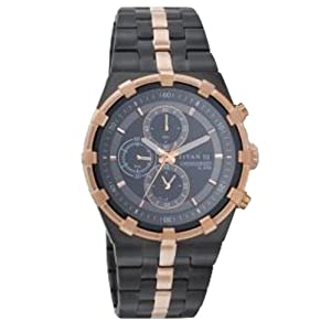 Titan Regalia Chronograph Black Dial Men's Watch - NC1537KM03A