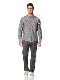 Cutter and Buck Men's Morrison Chambray Shirt (Black)