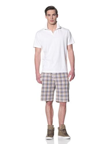 Tailor Vintage Men's Johnny Collar Polo (White)