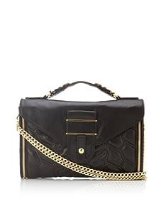 Rebecca Minkoff Women's Rivington Convertible Handbag (Black/Gold)