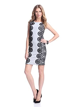 Julia Jordan Women's Knit & Lace Sheath (Grey/Black)