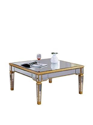 Florentine Coffee Table, Gold Leaf/Clear Mirror