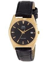 Q&Q Analog Black Dial Men's Watch - S116-102NY