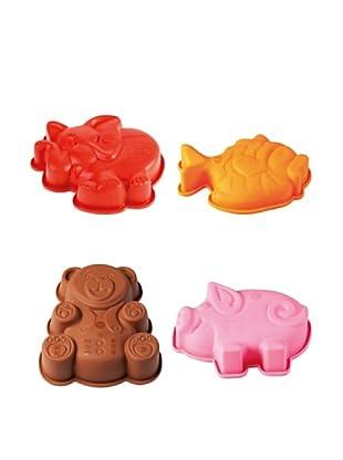 Pavoni Set 4 Mini Moldes Animales