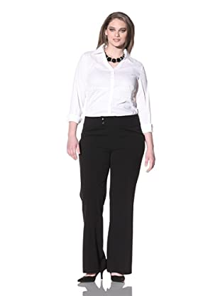 Not Your Daughter's Jeans Women's Plus Double-Button Trousers (Black)