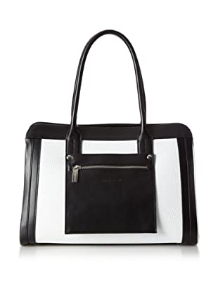 Charles Jourdan Women's Jackie Satchel (Black/White)
