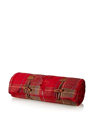 Assorted Stag Blanket, Red Claret/Red Plaid