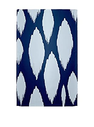 e by design Ogee Rug, Blue/Ivory