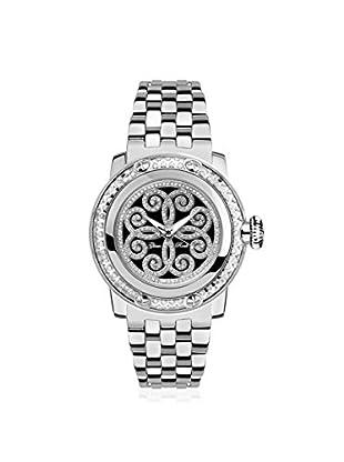 Glam Rock Women's GR40412D Miami Silver/Black Stainless Steel Watch