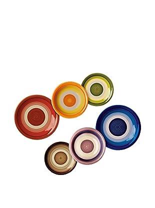 Molecuisine Geschirr 18 tlg. Set Circle Arlec mehrfarbig
