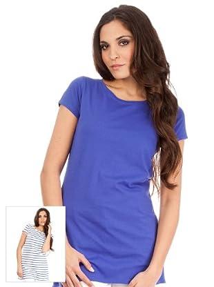 Cortefiel Pack Camisetas Combinada (Azul Claro / Blanco)