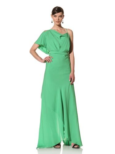 Juan Carlos Obando Women's Asymmetrical Evening Dress (Green)