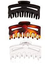 Vidal Sassoon Square Claw Clips, 3 Count