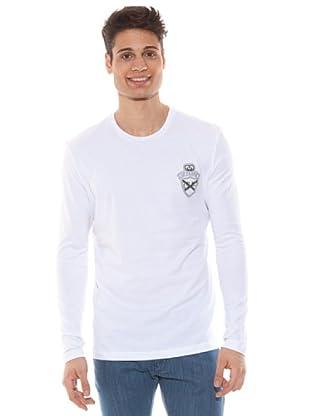 Gianfranco Ferré Camiseta Manga Larga Logo (Blanco)