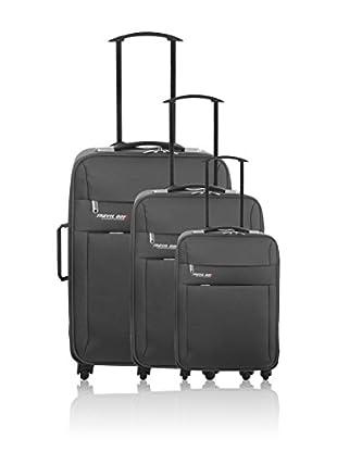 Travel ONE Set de 3 trolleys semirrígidos Canaria Gris