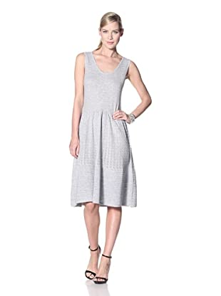 Zero Degrees Celsius Women's Metallic Knit Dress (Light Grey)