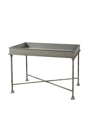 Winward Galvanized Tray Table, Grey