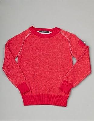 Calvin Klein Jeans Jungen Pullover CBR088 KNQ08 (Rot)