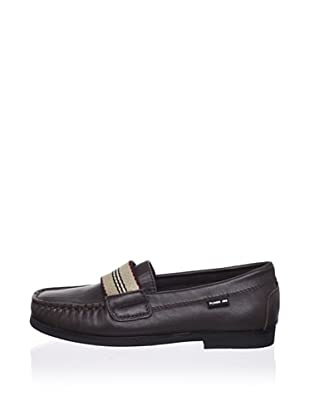 Pliner Jrs Bison Loafer (Brown Leather)