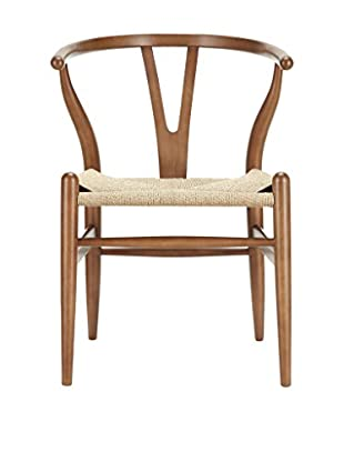 Modway Amish Wooden Dining Arm Chair, Walnut