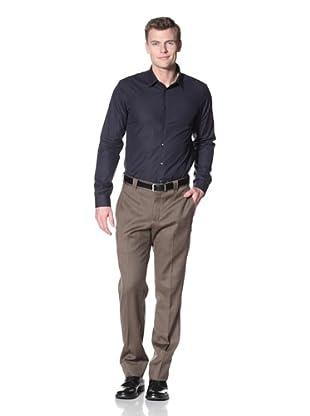Incotex Ivory Men's Twill Trouser (Olive Mix)