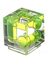Desmond 3 Axis Sony Shoe Mount Cube Bubble Spirit Level Yellow for Camera