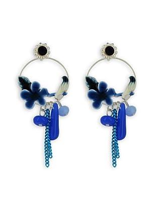 Fashion Victime Orecchini Sur le Perchoir chiusura a Farfalla blu