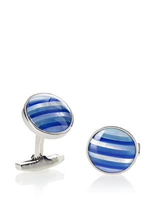 Daniel Dolce Striped Mother of Pearl Cufflinks