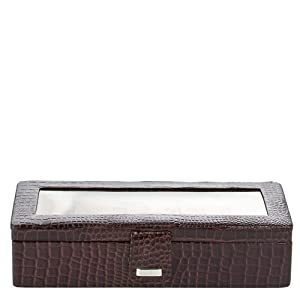 Charma 21173 Alligator Watch Case-Brown