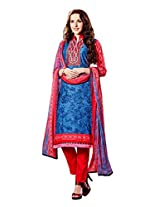 Ragini red colored dress material