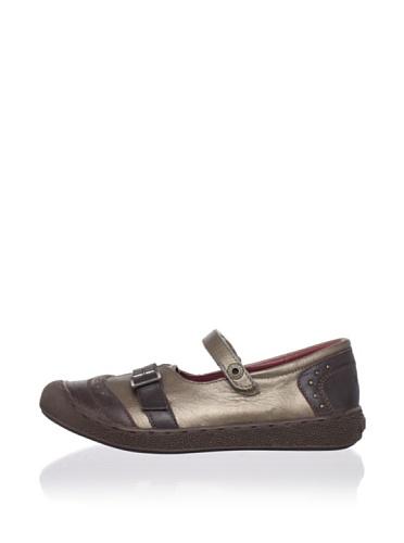Kickers Kid's Mary Jane Sneaker (Little Kid) (Dark Brown)