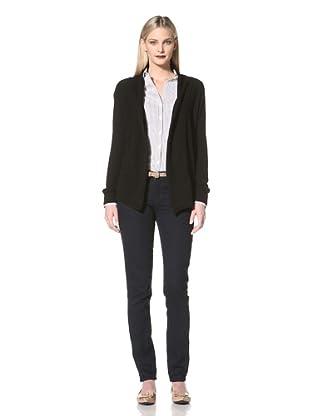 Cullen Women's Open Front Cardigan (Black)