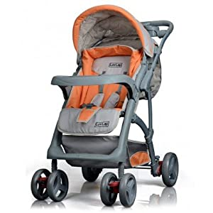 Luvlap Baby Stroller - Sports (Grey/Orange)