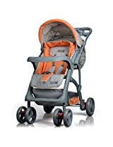 Luvlap Baby Stroller - Sports (Grey/Orange)