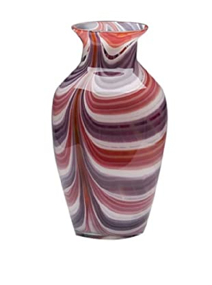 Dynasty Glass Viola Collection - Classic Vase - Summer Coral