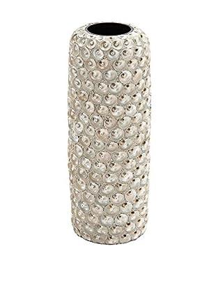 Seashell-Covered Earthenware Vase