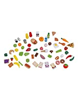 Kidkraft Mini Tasty Treats Play Food Set 65 Piece Assortment